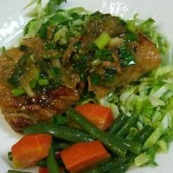 食べて応援:鶏肉の味噌ネギ焼き
