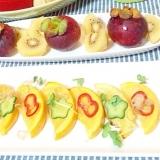 丸ズッキーニのソテーサラダとマンゴスチンプレート☆