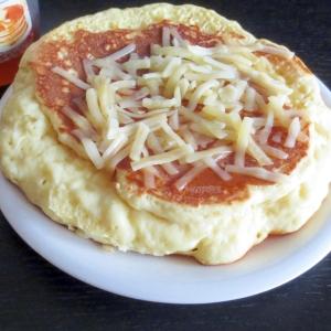 甘じょっぱい!チーズ パンケーキ