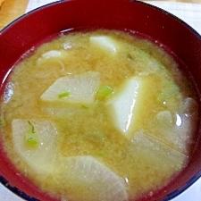 里芋と大根の味噌汁