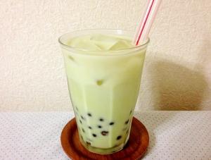 タピオカ入り☆抹茶ミルク