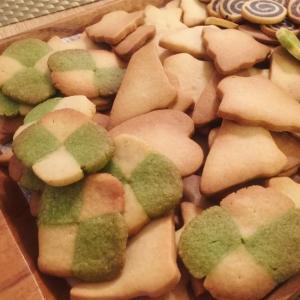 プレゼントにピッタリ!市松柄の簡単クッキー