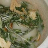 水菜と小蕪の白味噌煮