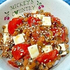 納豆の食べ方-トマト&チーズ♪
