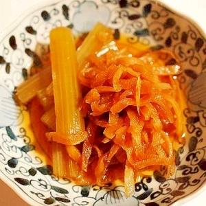 素朴 ルクルーゼで切り干し大根と蕗の煮物