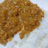 玉ねぎとひき肉のみの簡単カレー