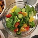 手作りドレッシングの清見オレンジ入りサラダ