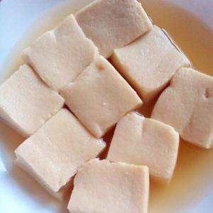 ゆっくり煮る高野豆腐