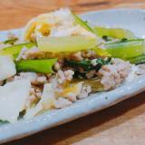 残り野菜で作れる!豚ひき肉と葉野菜の中華炒め
