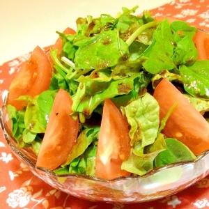 ルッコラとトマトのサラダ(バルサミコドレッシング)