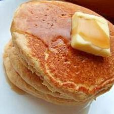 今日のランチ*おから入り全粒粉ホットケーキ