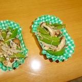 冷凍保存でお弁当に♪キノコと野菜のじゃこ炒め