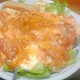 焼き鳥缶と麺つゆで作る親子丼