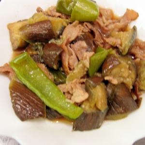 豚肉・なす・ピーマンの炒め煮