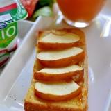 梅ジャムとりんごのトースト