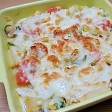 オムポテトのチーズ焼き