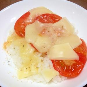 電子レンジで簡単☆トマトチーズご飯