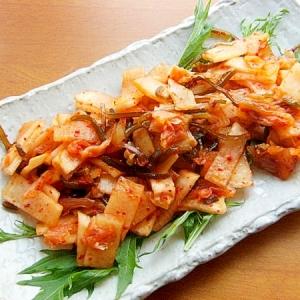 白菜キムチ利用!優しい味の大根キムチ♪(塩こんぶ)