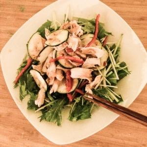 簡単自家製ドレッシング野菜