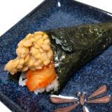 納豆とキムチの手巻き寿司 ♪