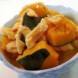 2種の調味料で 南瓜と油あげの絶品煮物♬