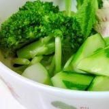 塩麹ドレッシングで グリーンサラダ