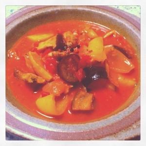 *魚介類と野菜たっぷりトマト煮込み♡