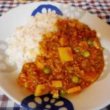 タケノコのトマトキーマカレー