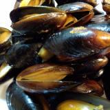 冷凍ムール貝の白ワイン蒸し