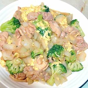 冷凍ブロッコリーで!ブロッコリーと鶏肉の卵炒め♪