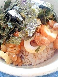 納豆の食べ方-ちくわ一味♪
