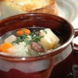 うずら豆のスープ@圧力鍋