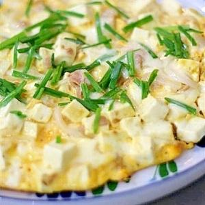 豆腐とツナのスペインオムレツ風