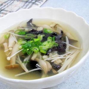 生きくらげを使って、、、スープ