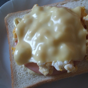 ハム玉チーズトースト