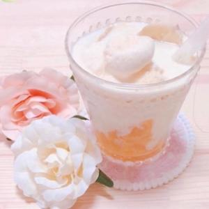 ピーチオレンジゼリー&アイスミルクシェイク