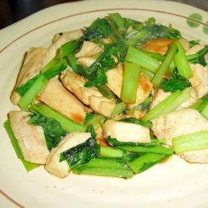 めかじきと小松菜のバタポン炒め