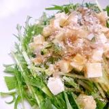 さっぱり!しゃっきり!水菜のWチーズサラダ