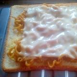 残り物簡単リメイク!焼きそばチーズトースト