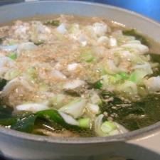 わかめと牛肉のスープ
