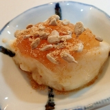 無花果ジャムとひまわり種の呉豆腐