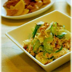 蕪と胡瓜のツナサラダ