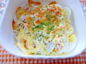 ゆで卵のチーズ焼き