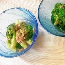 ブロッコリーとツナの温サラダ