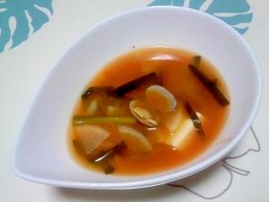 具だくさん海鮮チゲ風スープ++