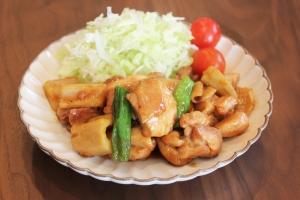 簡単★鶏肉(もも肉)とレンコンの生姜焼き