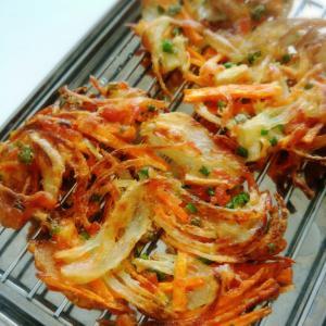 天ぷら粉で簡単かき揚げ