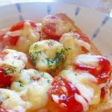 [お手伝いレシピ]☆プチトマトのピザトースト☆