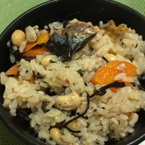鯖缶で作る炊き込みご飯