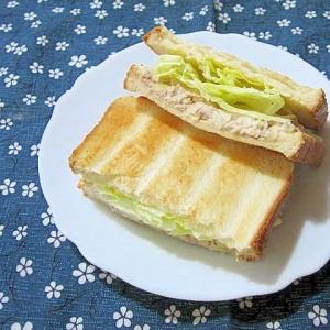 ツナとレタスのトーストサンド